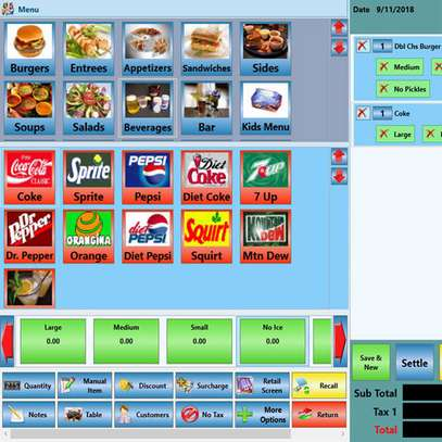 Restaurant And Bar Point Of Sale POS Software Touch Screen