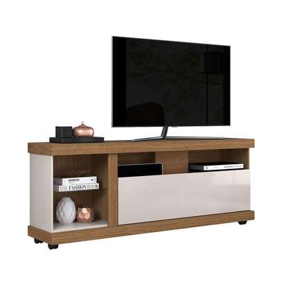 TV STAND RACK ( Colibri ILHABELA ) - NATURAL REAL/ OFF WHITE