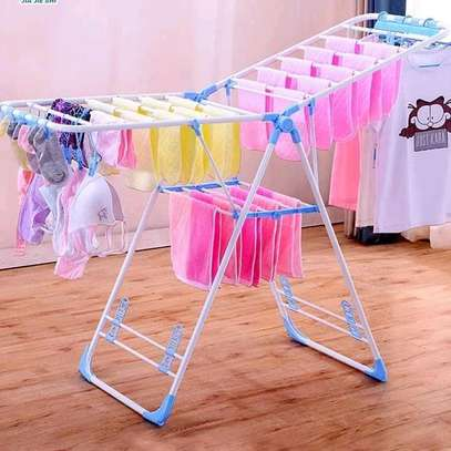 Foldable portable clothes rack image 1