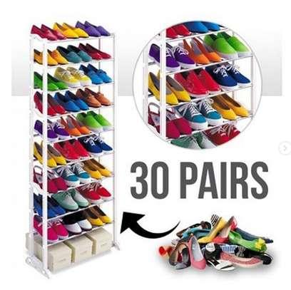 Amazing shoe rack 30 pairs storage image 1