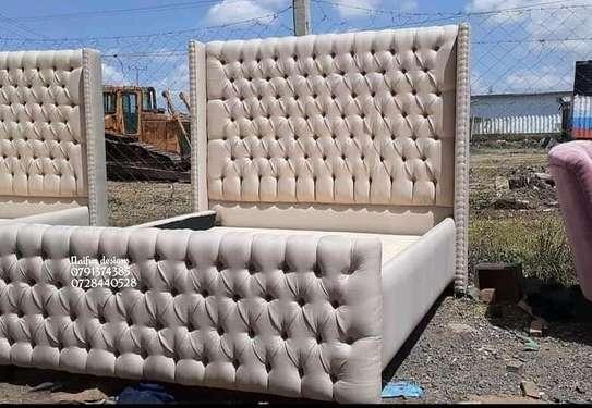 Luxury 6/6 beds for sale in Nairobi Kenya/modern king-sized beds/6*6 beds/beige beds for sale in Nairobi Kenya image 1