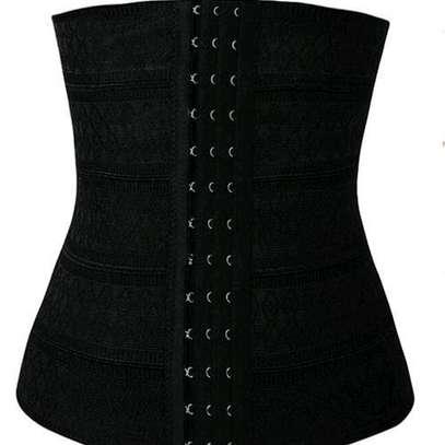 High Waist Trainer BodyShaper Sliming Belly Belt-Black image 1