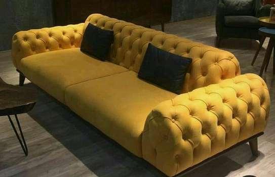 Yellow chesterfield sofa/three seater sofa for sale in Nairobi Kenya image 1
