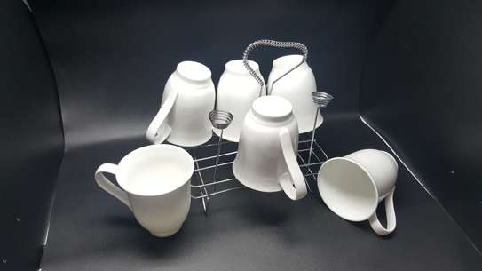 6 Pc Oxford Porcelain Coffee image 1