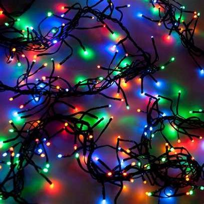 Outdoor LED Cluster Fairy Lights Black Cable image 1