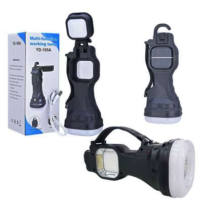 Solar Energy LED Torch Flashlight Hanging Lamp image 1