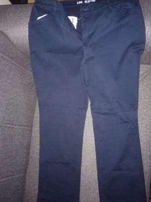 Ladies khaki trousers image 1