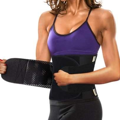 Women Neoprene Sauna Sweat Belt Waist Trainer Corset Slimming Body Shaper For Weight Loss Workout image 2