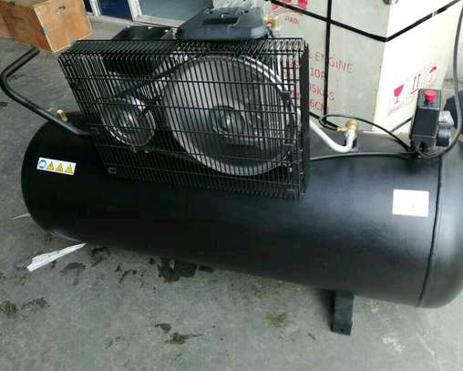 Air compressor Single cylinder heavy duty-Stainless And Black image 2