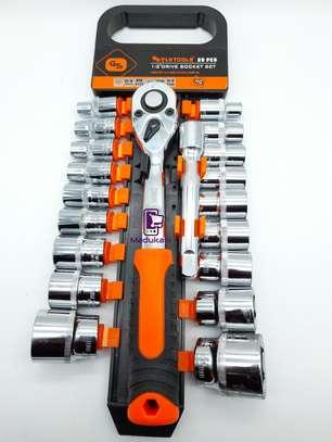 1/2 Inch 20PCS Ratchet Wrench Box Spanner Socket Set image 5