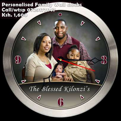 personalized wall clock with photo or logo