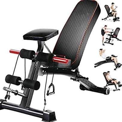 Adjustable commercial gym bench image 1
