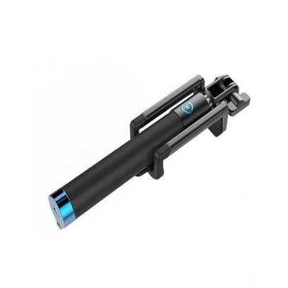 Generic Foldable Smart Shooting selfie stick - Black image 1