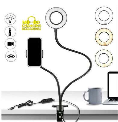 Unifree Professional Selfie Ring Light and Cell Phone & Webcam Holder Stand for Live Stream, Makeup TIK Tok, Vigo, YouTube and Video Recording. image 5