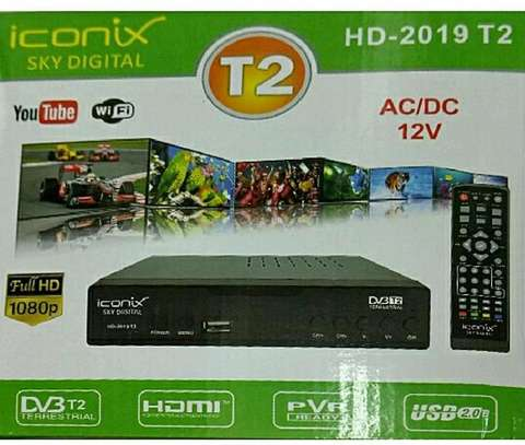 Iconix Free To Air Digital Decoder HDMI Enabled Connects WIFI And Youtube image 1