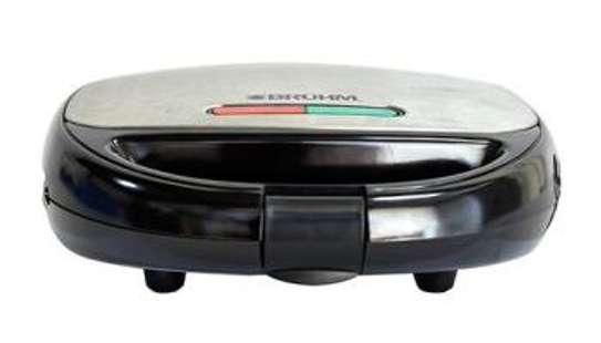 Bruhm BSM-D102 Sandwich maker,Single Fixed Sandwich Plate,Cool Touch Handle,Non-Stick Coating Plates image 1
