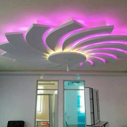 Gypsum Ceilings Designs With LD Lights image 1