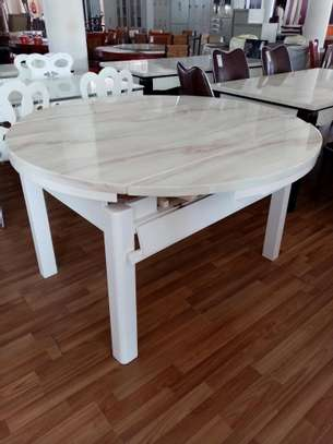 Foldable marble dining table image 1