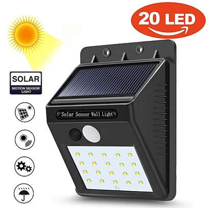 20 LED Solar Wall Lights with Motion Sensor and Auto ON/OFF Photocell