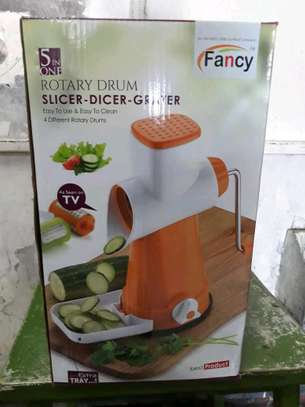 Rotary grater/vegetable slicer/5 in 1 rotary drum image 3