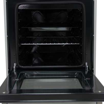 Mika Standing Cooker, 50cm X 50cm, 3 + 1, Electric Oven, Silver - Free Regulator, Pipe and Delivery image 4