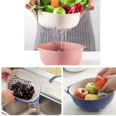 2 in 1 Kitchen Strainer/Colander & Bowl Sets