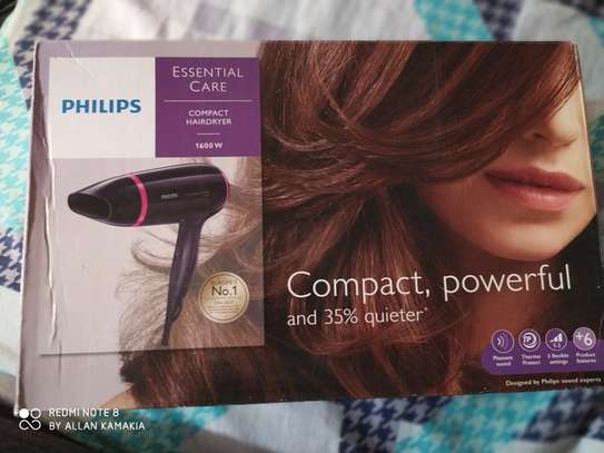 Philips BHD002 Compact Essential Care Hairdryer - Dark Purple & Pink