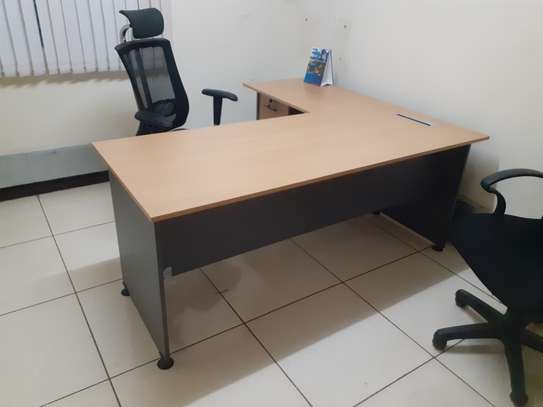 L-Shaped Executive Desk 1.6Meter Ksh. 23,500.00 With Free Delivery image 3