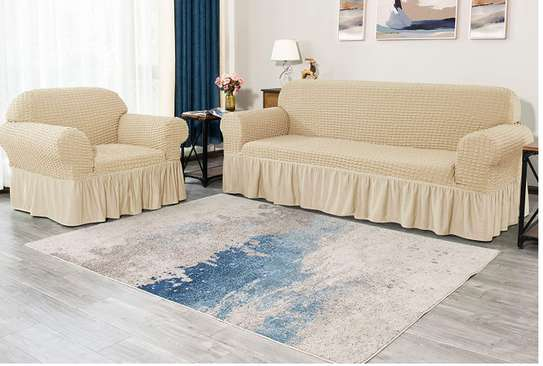 sofa covers 7 sitter beige image 1