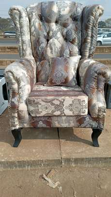 New classy Chesterfield wing chair image 1