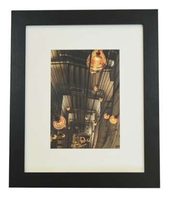 A4 Certificate Photo/Picture Frame, Classic Black image 2