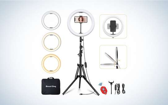 14 inch Ring Light Kit ring light with adjustable tripod stand Live makeup ring light for tik tok Youtube live streamin image 1