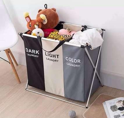 3 Compartment Laundry Basket image 2