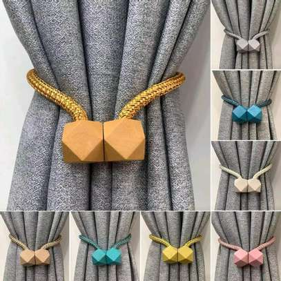 Magnetic curtain holder image 2