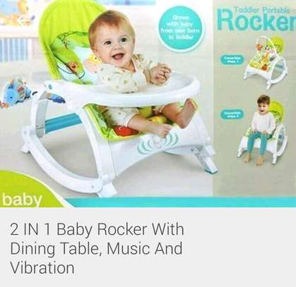 baby rocker with Dining Table. 2 in 1 image 1