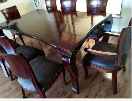 Antique mahogany dining table image 1