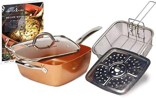 Copper square casserole pan image 1