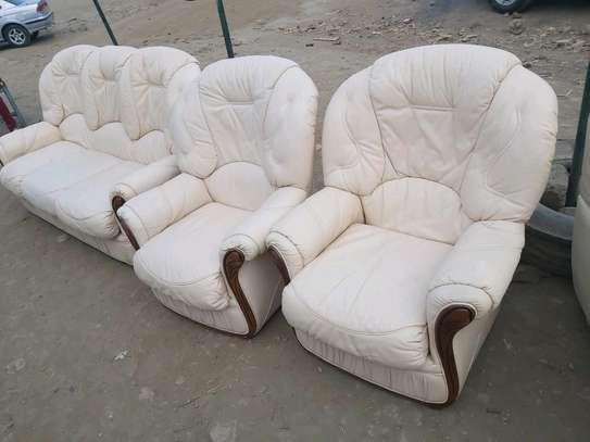 Genuine Ex Uk Leather 5 seater sofa image 2