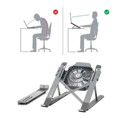 Foldable Laptop Stand with a Cooling Fan image 1
