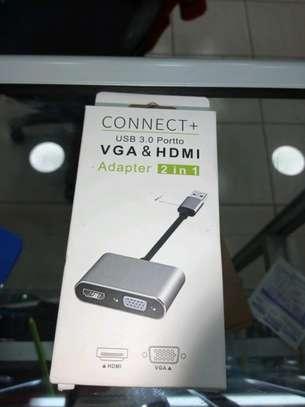 USB 3.0 TO HDMI AND VGA image 1