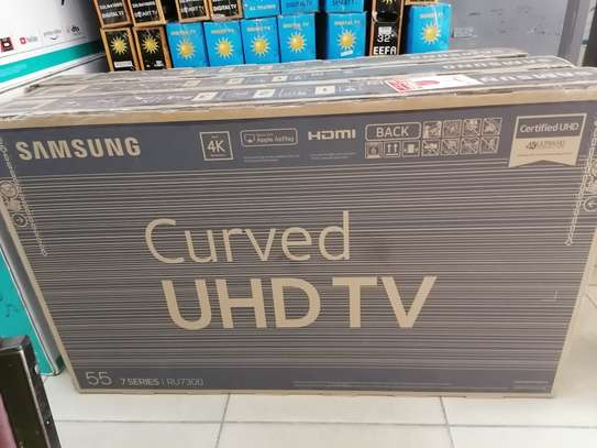 Brand new Samsung 55 inch curved smart 4k uhd clarity image 1