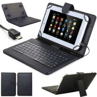 Universal Tablet Case With Micro USB Keyboard For Samsung Tab E 9.6 inches image 3