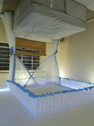 Rail Shears Mosquito Nets Sliding Like Curtains Fixed On The Ceiling image 9