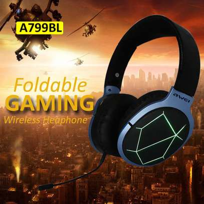 Awei A799BL Foldable Wireless Bluetooth Gaming Headphones With Mic image 7