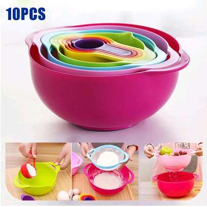 10pcs Mixing Bowl and Measuring cups image 2