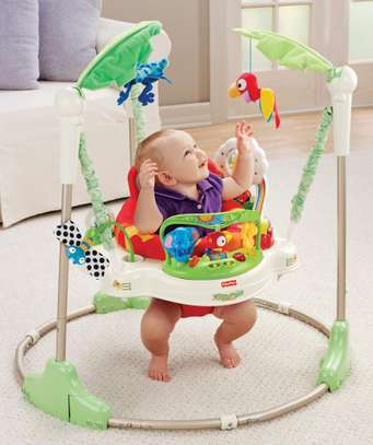 Jumperoo Baby Jump & Learn Stationary Jumper Baby Bouncing Swing image 1
