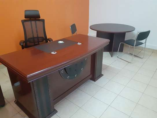 Executive Office Mahogany Desk 1.6Meters With Free Delivery & Installation image 2
