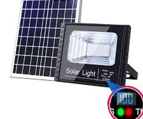60 Watts Solar LED Flood Light, WH Light Sensor. image 1