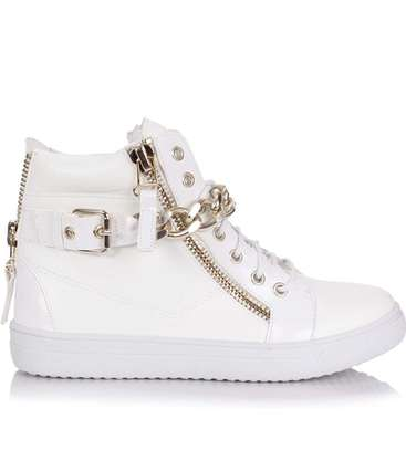Hightop canvas shoes for women: laceup casuals: size 41 image 2