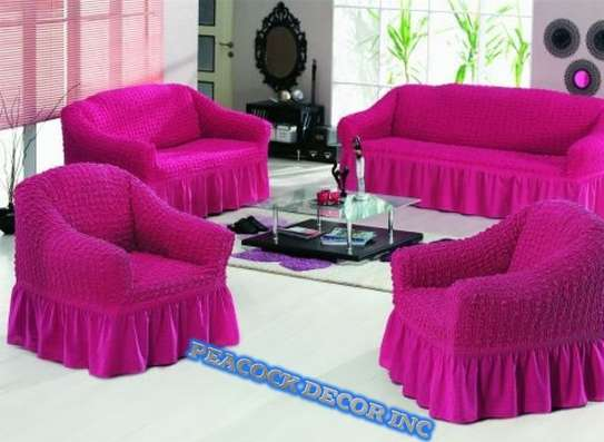 Ready Made Loose Covers 5 seater 11500/= image 10